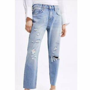 Zara The Cigarette Jean In Sunrise Blue Size 8